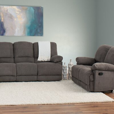 Condron 2 Piece Living Room Set Upholstery: Gray