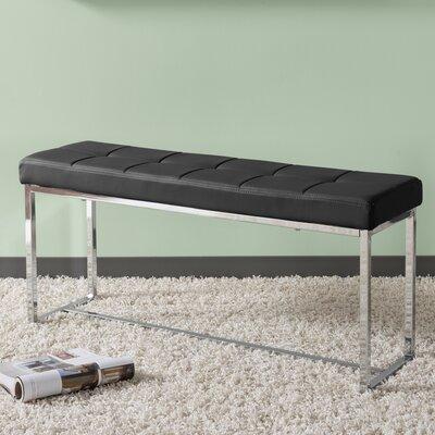 Huntington Modern Bench Upholstery: Black