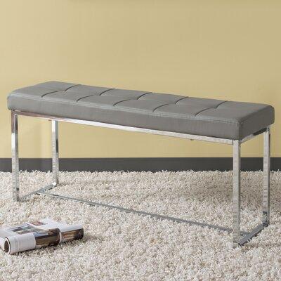 Huntington Modern Bench Upholstery: Gray