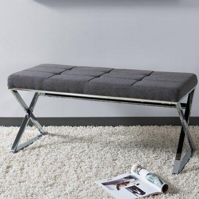 Onya Modern Tufted Bench Upholstery: Gray