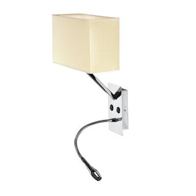 Pura Lux Vacanza 1 Light Semi-Flush Wall Light