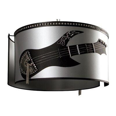 Pura Lux Rock 1 Light Drum Pendant