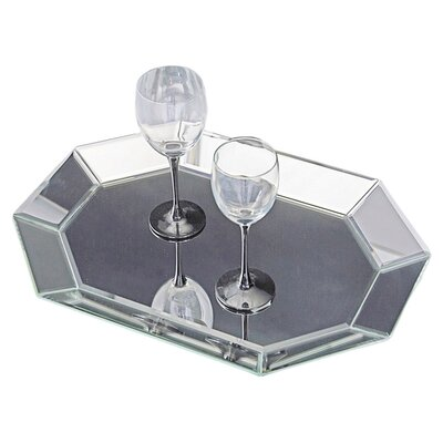 Howard Elliott Octagonal Decorative Mirrored Tray