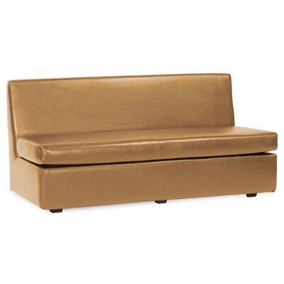 Box Cushion Sofa Slipcover Upholstery: Bronze