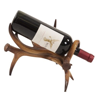 Manzo Faux Antler Tabletop Wine Rack