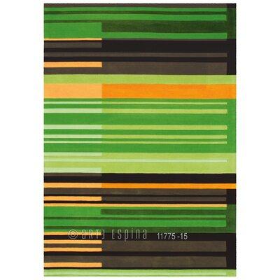 Arte Espina Digital Line Joy Green Rug