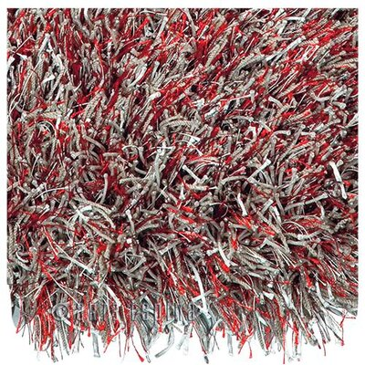 Arte Espina Lounge Beat Shaggy Silver/Red Rug
