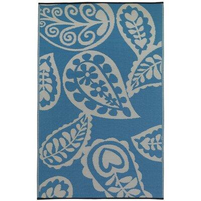 Fab Habitat Paisley Hand-Woven Blue Indoor/Outdoor Area Rug