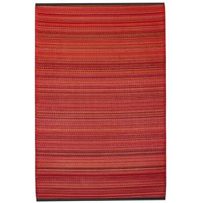 Fab Habitat Cancun Hand-Woven Red Indoor/Outdoor Area Rug