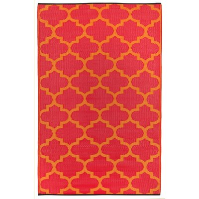 Fab Habitat Morrocan Hand-Woven Dreams Orange Indoor/Outdoor Area Rug