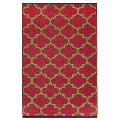 Fab Habitat Tangier Hand-Woven Red Indoor/Outdoor Area Rug