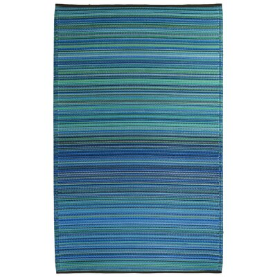 Fab Habitat Cancun Hand-Woven Blue Indoor/Outdoor Area Rug