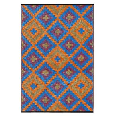 Fab Habitat Saman Hand-Woven Blue Indoor/Outdoor Area Rug
