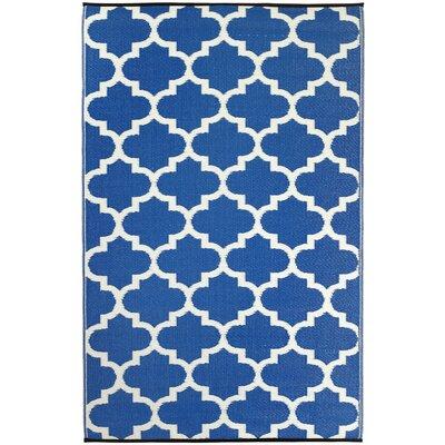 Fab Habitat Tangier Hand-Woven Blue Indoor/Outdoor Area Rug