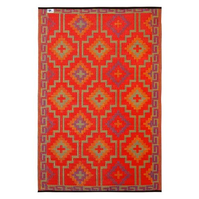 Fab Habitat Lhasa Hand-Woven Red Indoor/Outdoor Area Rug