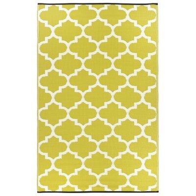 Fab Habitat Tangier Hand-Woven Bright Yellow Indoor/Outdoor Area Rug