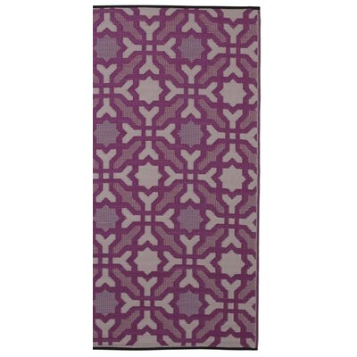 Fab Habitat World Purple Indoor/Outdoor Area Rug
