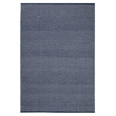 Fab Habitat Zen Hand-Woven Blue/Bright White Area Rug