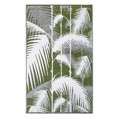Fab Habitat World Green Indoor/Outdoor Area Rug
