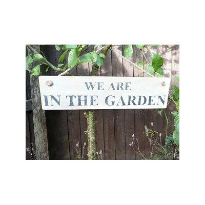 Duckydora We Are in the Garden Sign