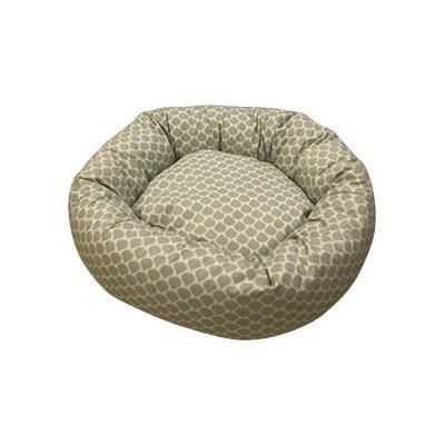 Duckydora Sienna Pet Donut Bed in Grey and Cream
