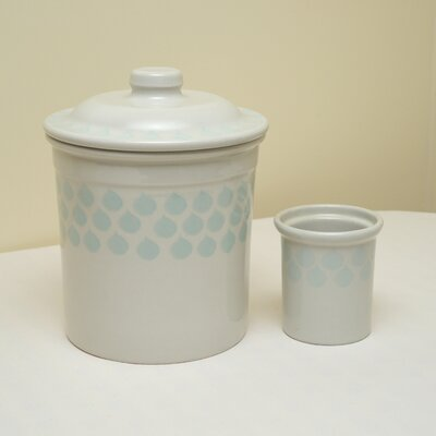 Duckydora Sienna 2 Piece Bread Bin and Utensil Holder Set