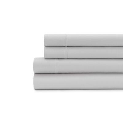Hagins 300 Thread Count Sheet Set Size: Queen, Color: Silver