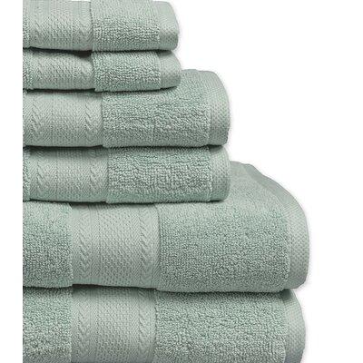 Fossett 6 Piece 100% Cotton Towel Set Color: Blue Haze