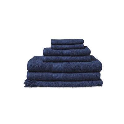 7 Piece 100% Cotton Towel Set Color: Medieval Blue