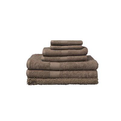 7 Piece 100% Cotton Towel Set Color: Caribou