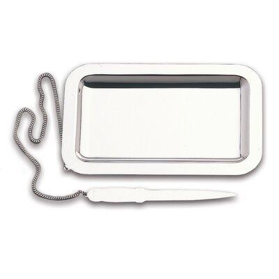 Zaramella Argenti Tablett Cardinale mit Papiermesser