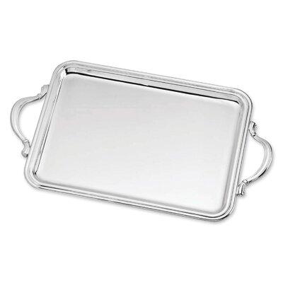 Zaramella Argenti Tablett rechteckig Inglese