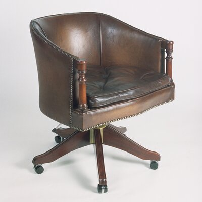 Curzon Gallery Collection Poker Mid-Back Leather Bankers Chair