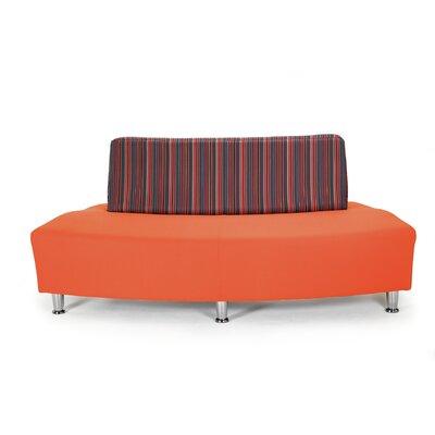 Fusion 10 Silver 2 Seater Convex Unit Sofa