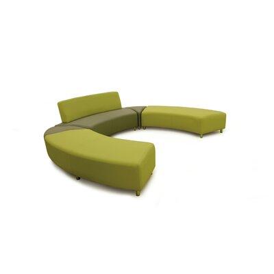 Fusion 10 Silver Triangular Unit Sofa