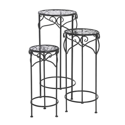 Furnhouse Bolo 3 Piece Round Pot Plant Stand