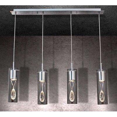 Home Lighting Balken-Pendelleuchte 4-flammig Merlin