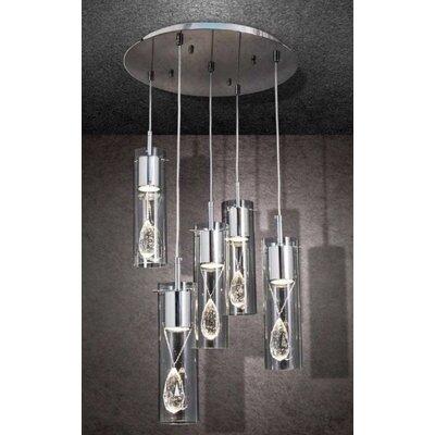 Home Lighting Kaskaden-Pendelleuchte 5-flammig Merlin
