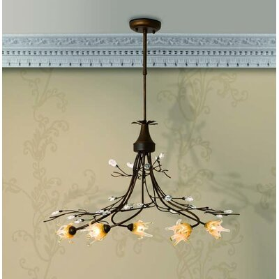 Home Lighting Design-Pendelleuchte 5-flammig Lilly