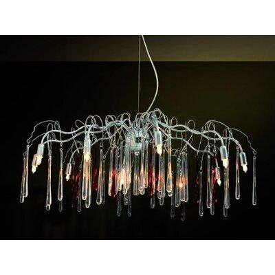 Home Lighting Kristall-Pendelleuchte 10-flammig Bunch
