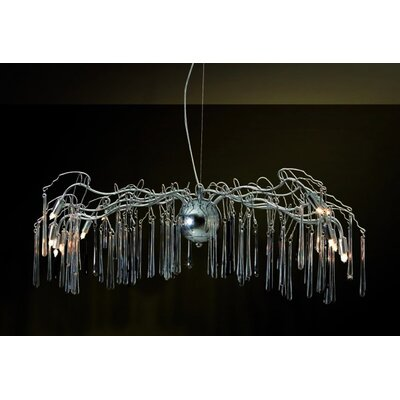 Home Lighting Kristall-Pendelleuchte 12-flammig Bunch