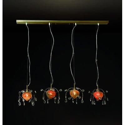 Home Lighting Balken-Pendelleuchte 4-flammig Caramel