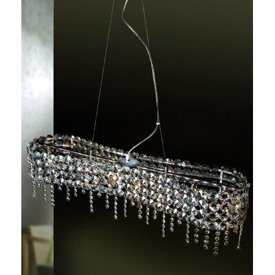 Home Lighting Kristall-Pendelleuchte 8-flammig Diamond