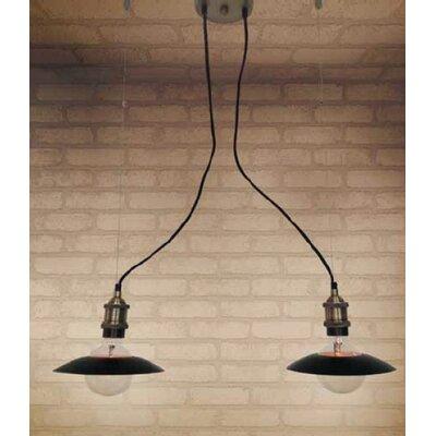 Home Lighting Schalen-Pendelleuchte 2-flammig Magnum Plate