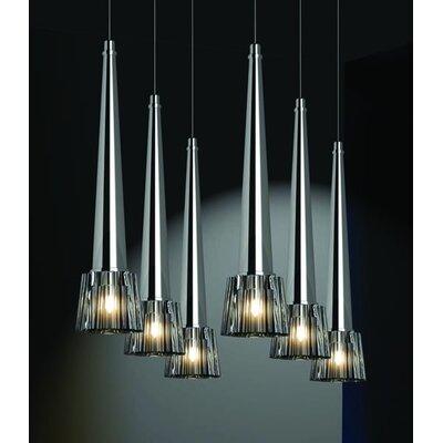 Home Lighting Kristall-Pendelleuchte 6-flammig Logo