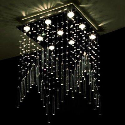 Home Lighting Deckenleuchte 9-flammig Crystal Rain