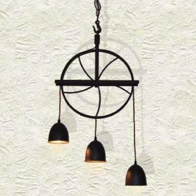 Home Lighting Design-Pendelleuchte 3-flammig Wheel