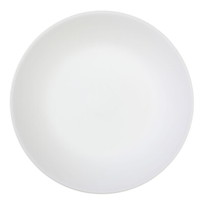 Corelle Winter Frost White 6 Piece Glass Dinner Plate in White