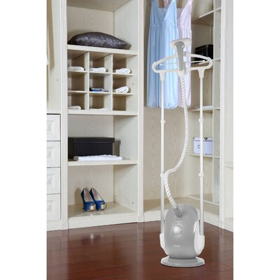 Professional Dual-Bar Garment Steamer with Double Insulated Woven Hose Color: Gray