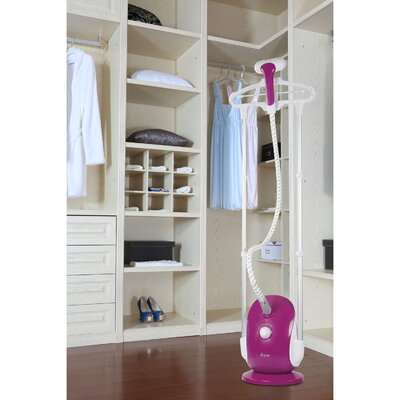 Professional Dual-Bar Garment Steamer with Double Insulated Woven Hose Color: Orchid